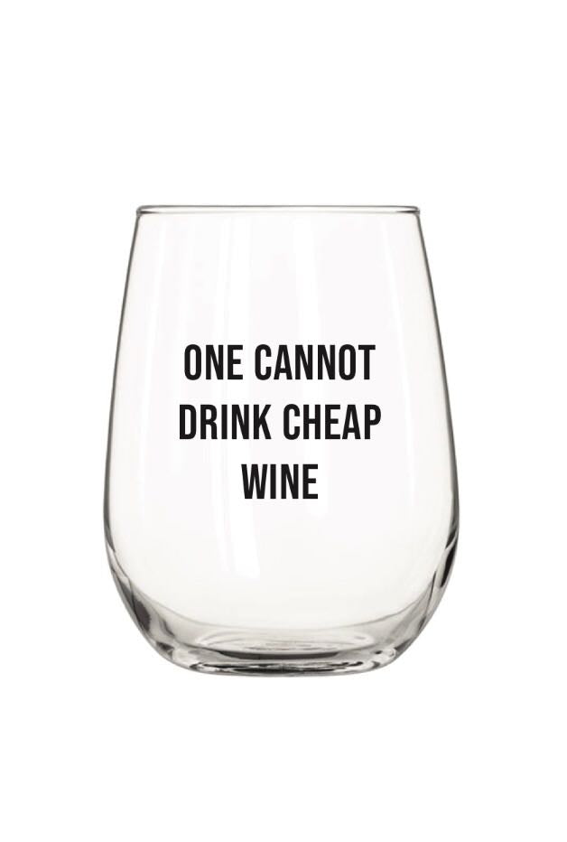 Cheap Wine Wine Glass