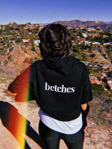 Betches Cut Out Hoodie