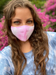 Pink Tie Dye Face Mask