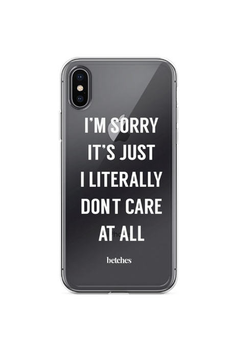 I Literally Don't Care Phone Case