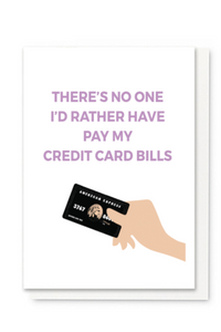 Credit Card Bills Card