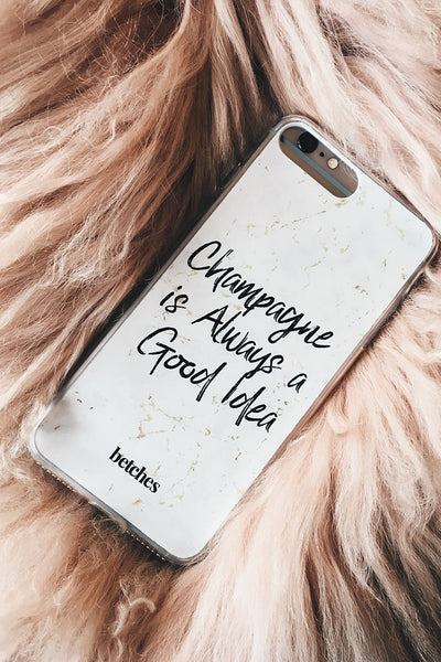 Champagne Marble Phone Case