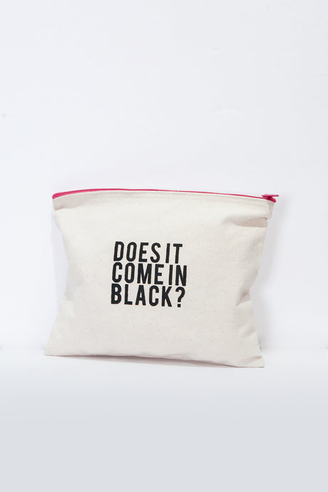 Does It Come In Black? Makeup Pouch