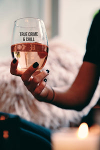 True Crime Wine Glass