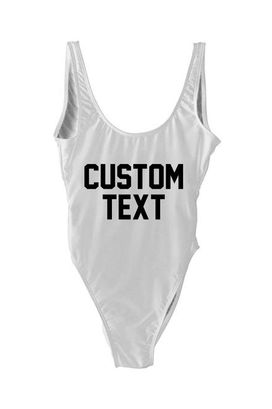 Custom Text Swimsuit