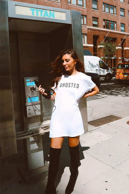 Ghosted Oversized T-Shirt Dress