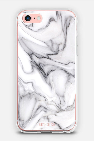 Black & White Marble Phone Case