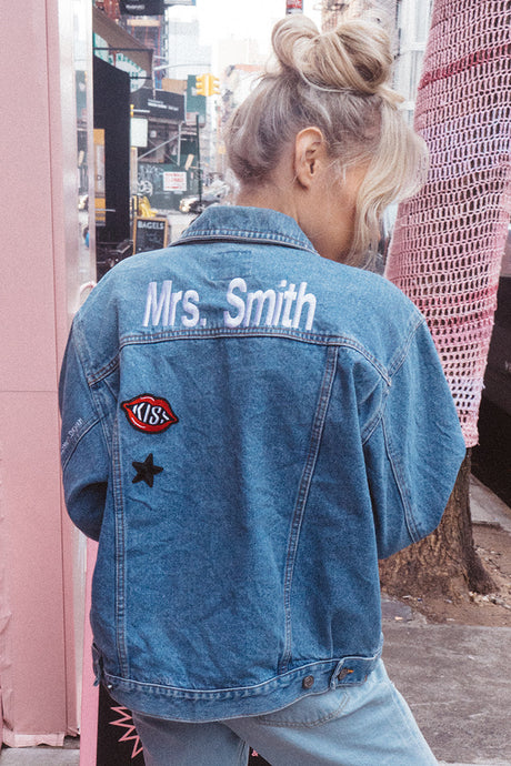 Custom Vintage Denim Jacket