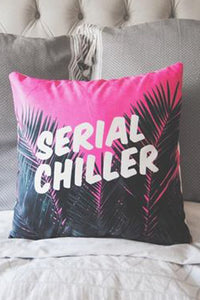 Serial Chiller Throw Pillow Cover