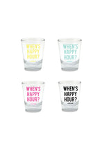 When's Happy Hour? Shot Glass Set