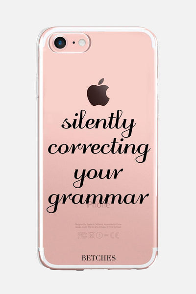 Silently Correcting Your Grammar Phone Case