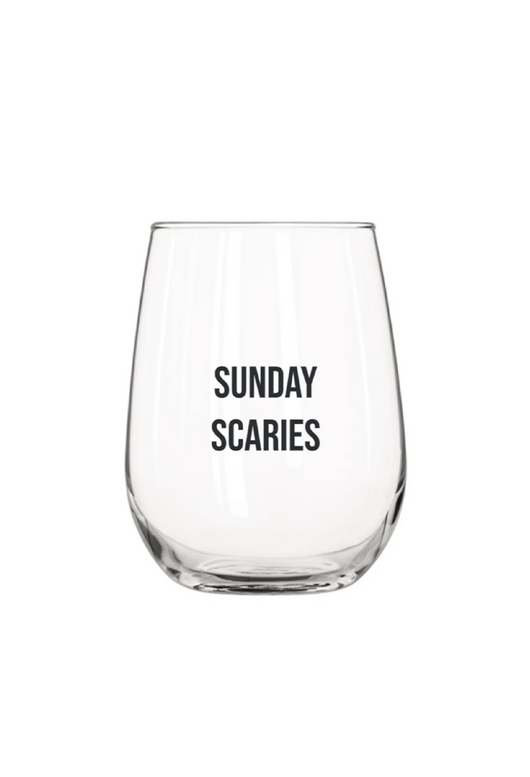 Sunday Scaries Wine Glass