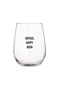 Virtual Happy Hour Wine Glass