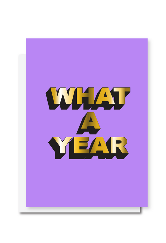 What A Year Card