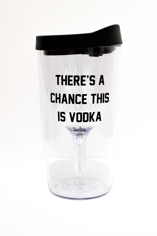 There's A Chance This Is Vodka Wine Tumbler X Three Olives Vodka