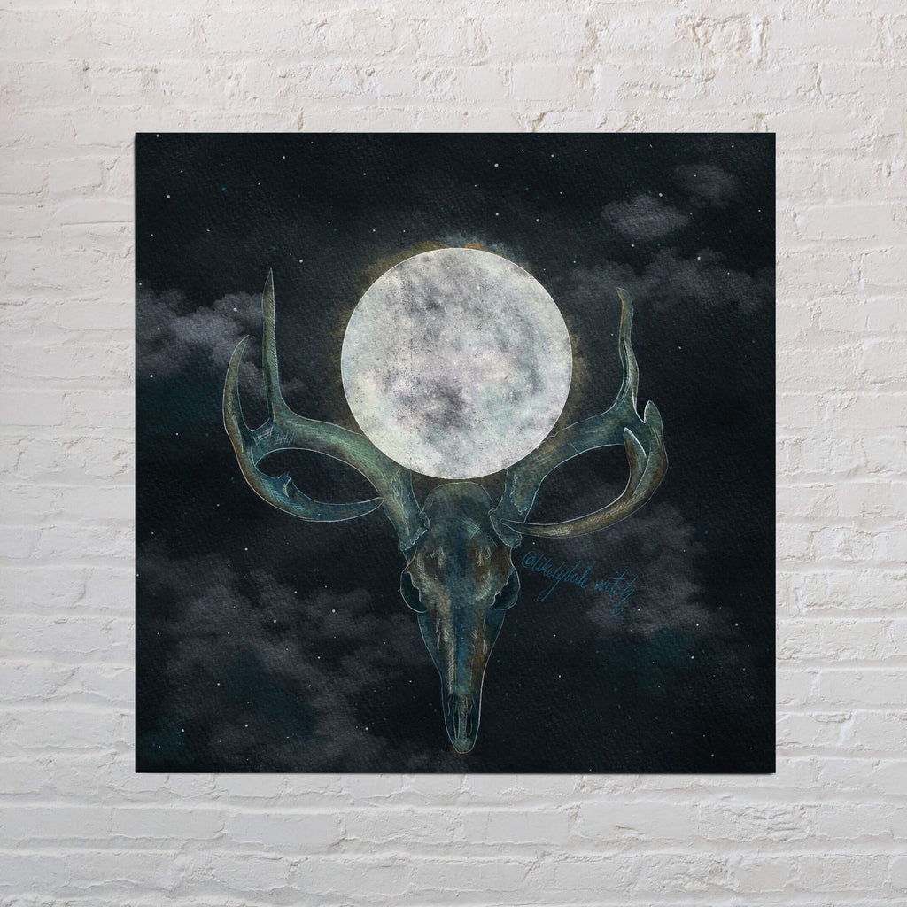 Full Buck Moon Art Print-Likely Tale Prints