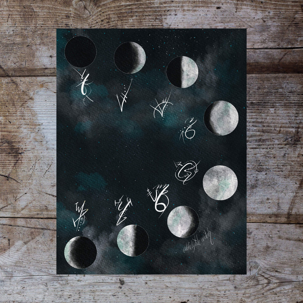 Moon Phase Sigil Print-Likely Tale Prints
