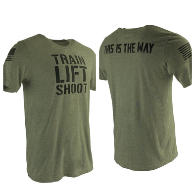 Train Lift Shoot - This is The Way T-Shirt (OD) Men's & Women's T-Shirt