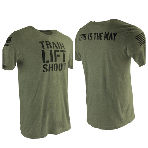 Train Lift Shoot - This is The Way T-Shirt (OD) Men's T-Shirt