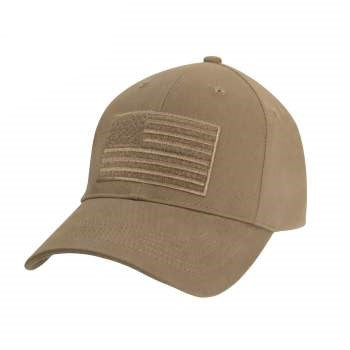 Hook & Loop U.S. Flag Low Profile Cap (Coyote) - OSFM
