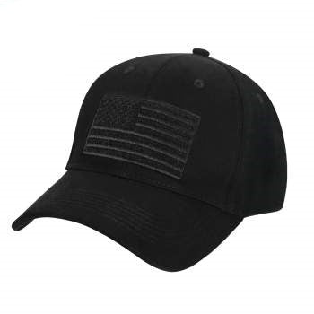 Hook & Loop U.S. Flag Low Profile Cap (Black) - OSFM