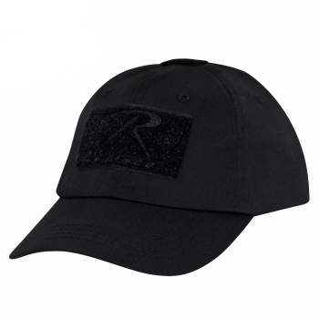 Tactical Ball Cap (Black) w/hook & loop field for patch - OSFM