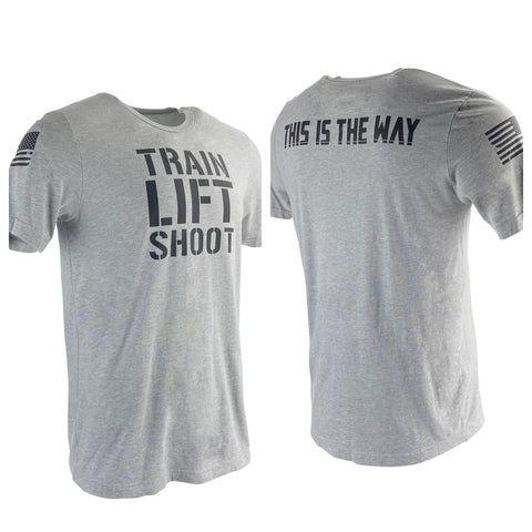 Train Lift Shoot - This is The Way (Grey) Men's T-Shirt