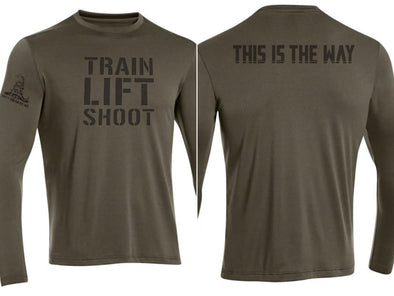 Train Lift Shoot - This is the Way DriFit Longsleeve Training Shirt (OD) - Men's & Women's