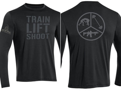 TLS Pie Skills - DriFit Longsleeve Training Shirt (Black)- Men's & Women's