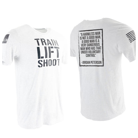 Train Lift Shoot - Dangerous Man (White) Men's T-Shirt