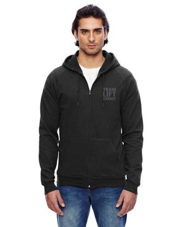 TLS - Pie Skills - California Fleece Zip Hoodie (Black) Men's & Women's