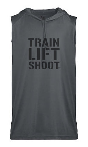 Train Lift Shoot - Performance Hoodie Tank (Grey)