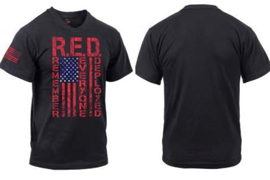 R.E.D. - Remember Everyone Deployed - Athletic Fit (Grey) Men's T-Shirt