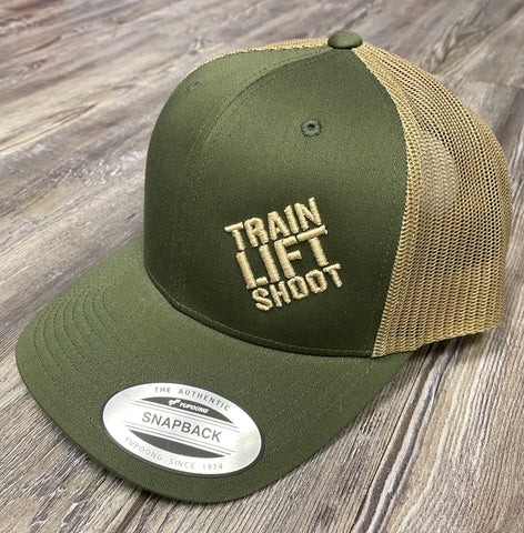 Train Lift Shoot Sport-Tek Adjustable Snapback Cap (OD/Tan)