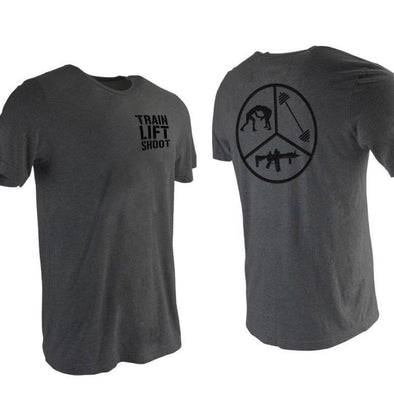 Train Lift Shoot Skills Pie (Grey) - Men's T-Shirt
