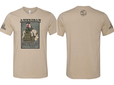 Tactical Teddy Roosevelt (Tan) Men's & Women's T-Shirt