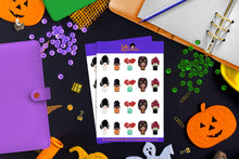 Load image into Gallery viewer, Hola Mijas Bonitas Small Girls Costume Sticker Sheet