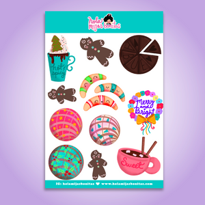 Hola Mijas Bonitas Holiday Sweets Sticker Sheet