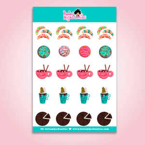 Hola Mijas Bonitas Small Holiday Sweets Sticker Sheet