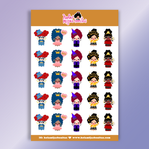 SMALL SIZE NEW YEAR Celebration Sticker Sheet