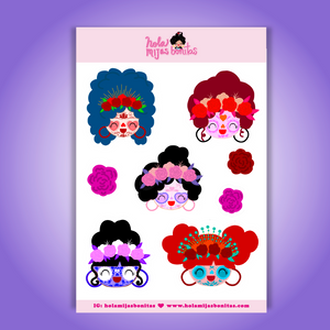 Hola Mijas Bonitas Sugar Skull Big Size Sticker Sheet