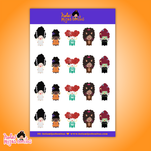 Hola Mijas Bonitas Small Girls Costume Sticker Sheet