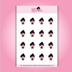 Hola Mijas Bonitas Workout Sticker Sheet