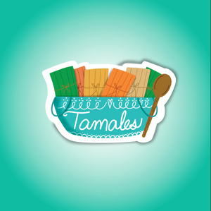 Hola Mijas Bonitas Tamale Die Cut Sticker