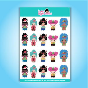 Hola Mijas Bonitas Small Ugly Sweater Sticker Sheet