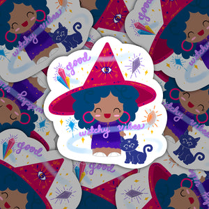 Good Witchy Vibes Rosa Sticker