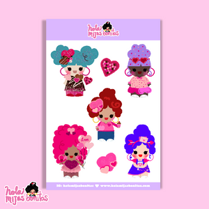 Hola Mijas Bonitas VDAY Big Size Sticker Sheet