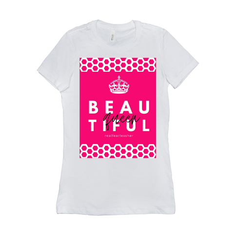 The Beautiful Queen Shirt-Dark logo