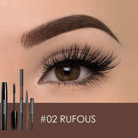 Focallure Eyes Makeup Set Fashion and Hot  3D Eyelash Mascara & 3 in 1 Auto Eyebrow pen Perfect for make up