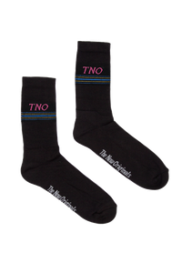 Black/Pink Underline Socks